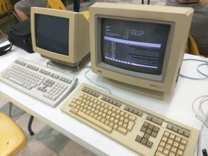 Two computer terminals