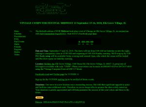 VCC-MW 2018 Main Page